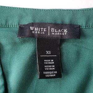 White House Black Market Tops - White House Black Market Green V-Neck Top XS